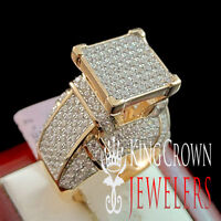 LADIES WOMEN 14K WHITE GOLD ON REAL SILVER SQUARE 3D CUBE COCKTAIL PROPOSAL RING