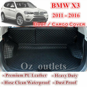 Tailor Made PU Leather Trunk Boot Liner Cargo Mat Cover for BMW X3 2011 - 2017