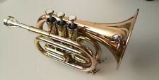 Thomann TR 25G Bb-Taschentrompete kaum benutzt mit Zubehör und Denis Wick Munds