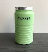 Jeannette Glass Co. Jadite / Jade-ite / Jadeite Coffee Canister 40 Ounces