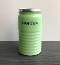 Jeannette Glass Co. Jadite / Jade-ite / Jadeite Coffee Canister 40 Ounces