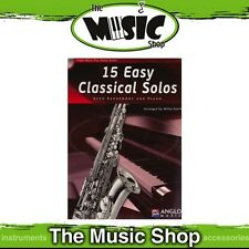 New 15 Easy Classical Solos for Alto Saxophone Music Book & CD