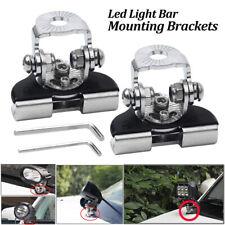 Mounting Brackets Led Work light Bars Clamp Holder Universal Hood For Jeep Truck
