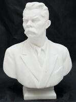 VINTAGE SOVIET Porcelain Bust Russian Writer Gorkiy Figurine LFZ Lomonosov