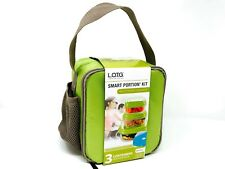 Insulated Lunch Box Green Bag Tote school-Office Containers & Icepack included
