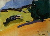 August Trummer g. 1946 - TOSCANA - Aquarell