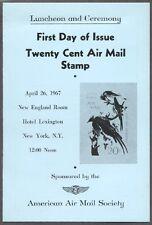 #C71-C2 20c Audubon Jays AM Stamp First Day Ceremony  Program