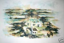 HUCHET Lithographie Originale signée numérotée paysage de bretagne
