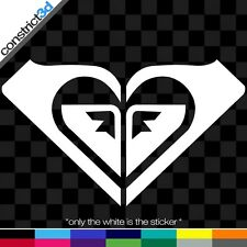 """(2x) ROXY 5"""" VINYL DECALS * ANY COLOR   snowboard snowboarding surf skate board"""
