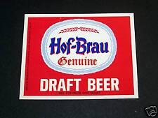 HOF BRAU DRAFT BEER LABEL MAIER BREWING LOS ANGELES CA