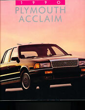 1990 Plymouth Acclaim Original Sales Brochure Book
