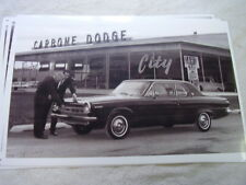 1964 DODGE DART IN FRONT OF DEALER   11 X 17  PHOTO  PICTURE