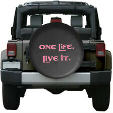 """ One Life Live It "" Soft Leather Spare Wheel Tire Cover For Jeep Hummer Chevy"