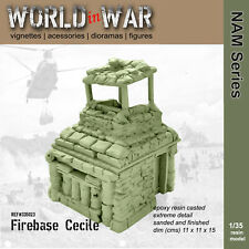 World in War - 1/35 Resin Model FIREBASE CECILE PillBox - Vietnam War
