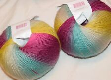 2 100gr Skeins 792yd Knit Picks CHROMA FINGERING Sprwsh Wool Nyl SOCK SHAWL YARN