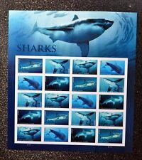 2017USA Forever - Sharks - Sheet of 20 Postage Stamps  Mint shark