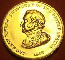 Gem Unc Zachary Taylor Presidential Bronze Inauguration Medallion~Free Ship