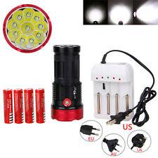 Original SKYRAY 30000LM 10xXML T6 LED Flashlight Torch Work Hunting 4*18650 Lamp