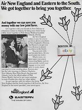 AIR NEW ENGLAND & EASTERN AIRLINES BOSTON CONNECTION POINT JOINT FARES 1974 AD