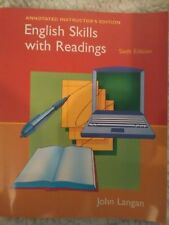 English Skills with Readings 6th Edition Annotated Instructor's Ed. John Langan