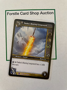 WoW TCG Heroes of Azeroth - Teebu's Blazing Sword + 2 Random Uncommon Playsets