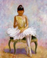 10x8 Art Print Girl Tutu BALLERINA Fan Costume Ballet Shoes Dance School Lesson