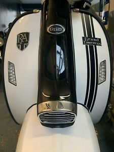 ROYAL ALLOY GT 125 200 BLACK FRONT LEGSHIELD STRIPE DECALS GRAPHICS