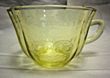 Yellow Depression Glass Replacement Tea Cup Madrid Pattern by Federal Glass