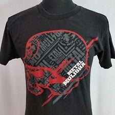 Metal Mulisha Black Tee Shirt Mens Med Motocross Racing Red Helmet