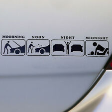 Funny Creative Car Sticker Decal PET Decal Morning Noon Night JDM Funny Life