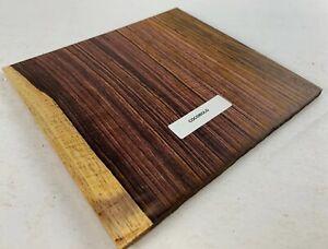 "Beautiful  Cocobolo,  Guitar Rosette Square blank 6"" x 6"" x 3 mm  (1 Piece)"