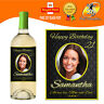 PERSONALISED PHOTO WINE BOTTLE LABEL BIRTHDAY ANY OCCASION GIFT