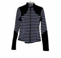 Women's Lululemon Forme Jacket in Sea Stripe Polar Haze Black Sz 4
