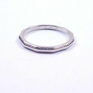 Platinum Wedding Ring Band Vintage Patterned Edge Size K