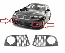 BMW 5 F10 F11 2010-2013 M SPORT FRONT BUMPER FOG LIGHT GRILLE MESH SET PAIR