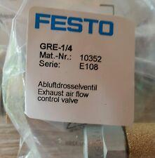 FESTO Abluftdrosselventil GRE-1/4 Mat.Nr.10352 neu OVP  Serie E108