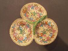 Vintage Molaroni Pesaro Partitioned Dish Scalloped Contouring Elaborate Design