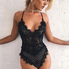 Women Nightgown Crotchlace Bodysuit Lingerie Set Sexy Underwear Lace Nightwear