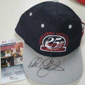 NICE Autographed Dale Earnhardt Sr Vintage Snapback Hat 25th Winston Cup JSA