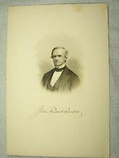 C1870s Engraving - JOHN RUSSELL BARTLETT - (1805-1886) - American Historian