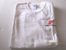 White L/S TShirt Size XL Checkmate Knight Boat Logo 100% Ultra Cotton New!
