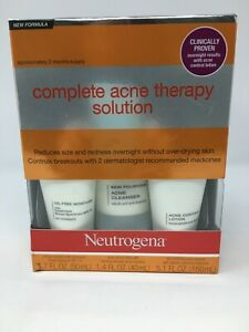 Neutrogena~Complete Acne Therapy Solution~2 Month Supply~Exp 03/2021,#3549