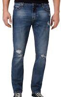 American Rag Mens Jeans Blue Size 30x32 Slim Fit Ripped Denim Stretch $50 254