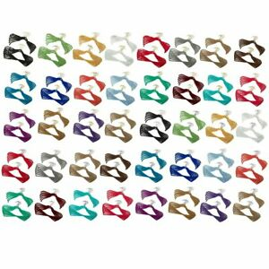 """""""As IS"""" Joy Mangano Huggable Hangers 40-Piece Combo Pack Brass or Chrome"""
