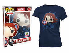 "Funko POP #25 ""Black Widow ""2015 San Diego ComiCon Exclusive"" Womens 2x T-shirt"