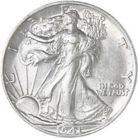 1941 S Walking Liberty Half Dollar 90% Silver UN US Coin