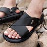 Mens Summer Casual Sandal Fisherman Beach Shoes Cow Leather Sandals Slipper 2019