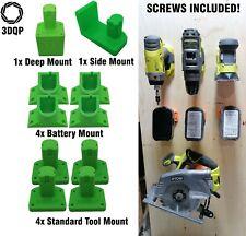10x Grey Ryobi One+ Wall Mount Bracket Kit, Drill, Circular Saw, Angle Grinder
