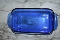 PYREX 213-R 1.5 Qt. / 1.5L Cobalt Blue Glass Loaf Pan Baking Dish - Made In USA