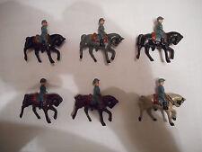 6 petits cavaliers français guerre 14-18 bleu horizon soldat plomb ancien